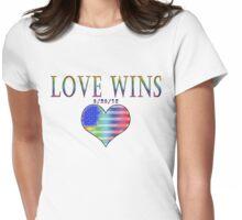 Love Wins! 6-26-15 USA Heart Womens Fitted T-Shirt