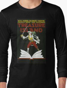 Vintage poster - Treasure Island Long Sleeve T-Shirt