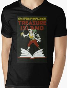Vintage poster - Treasure Island Mens V-Neck T-Shirt
