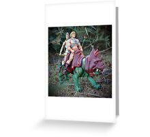 Masters of the Universe Classics - He-Man, Teela & Battle Cat Greeting Card