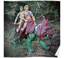 Masters of the Universe Classics - He-Man, Teela & Battle Cat Poster