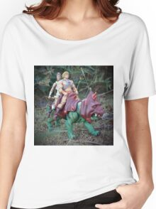 Masters of the Universe Classics - He-Man, Teela & Battle Cat Women's Relaxed Fit T-Shirt