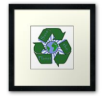 Save the Planet - Recycle Framed Print