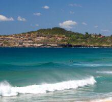 Mona vale beach on Sydneys Northern Beaches Sticker