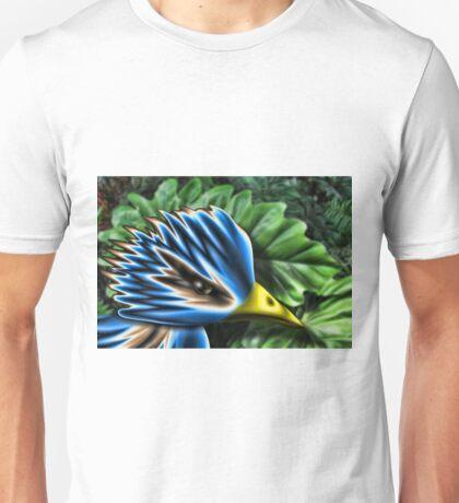 Serious Blue Birdy Unisex T-Shirt