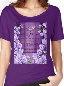 Waltz Of The Flowers In Purple Women's Relaxed Fit T-Shirt
