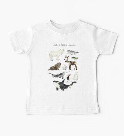 Arctic & Antarctic Animals Baby Tee