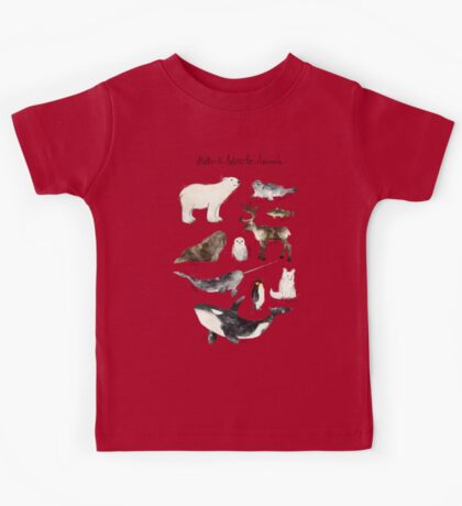 Arctic & Antarctic Animals Kids Tee