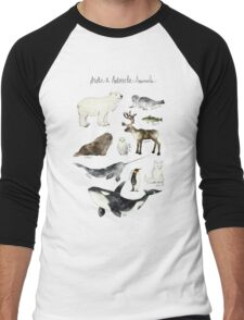 Arctic & Antarctic Animals Men's Baseball ¾ T-Shirt
