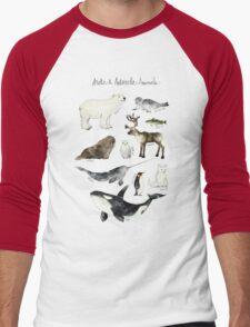 Arctic & Antarctic Animals Men's Baseball ¾ T-Shirt