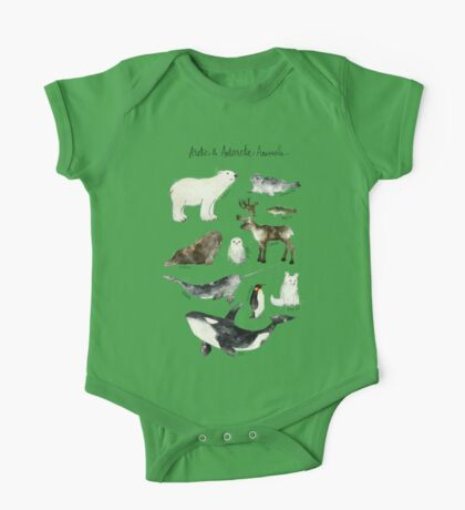 Arctic & Antarctic Animals One Piece - Short Sleeve