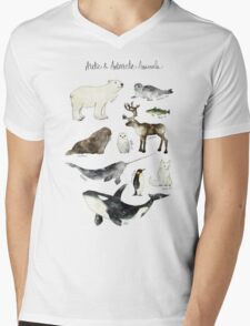 Arctic & Antarctic Animals Mens V-Neck T-Shirt
