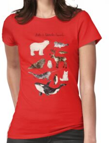 Arctic & Antarctic Animals Womens Fitted T-Shirt