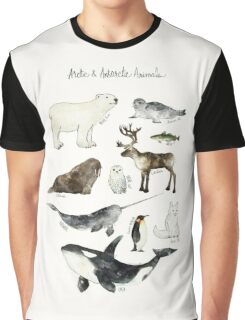 Arctic & Antarctic Animals Graphic T-Shirt