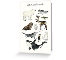 Arctic & Antarctic Animals Greeting Card