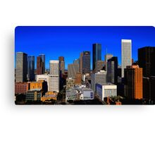 Downtown Houston Painted Canvas Print