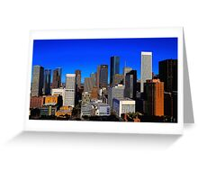 Downtown Houston Painted Greeting Card