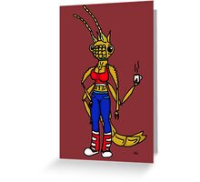 Anthropomorphic Stick Bug Greeting Card