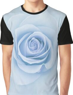 Soft Baby Blue Rose Abstract Graphic T-Shirt