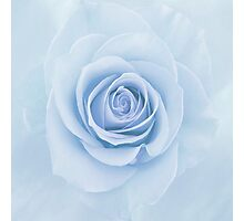Soft Baby Blue Rose Abstract Photographic Print