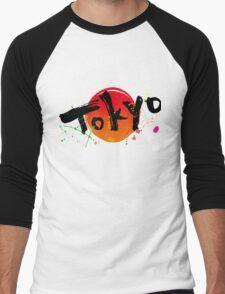 Tokyo of character Men's Baseball ¾ T-Shirt
