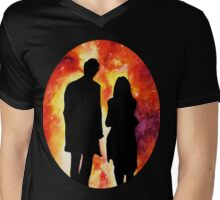 The Doctor and Clara Mens V-Neck T-Shirt