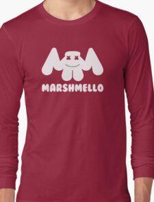 Marshmello | Logo | White | With Text Long Sleeve T-Shirt