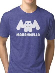 Marshmello   Logo   White   With Text Tri-blend T-Shirt