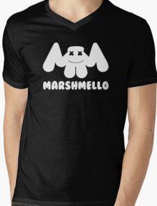 Marshmello | Logo | White | With Text Mens V-Neck T-Shirt
