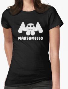 Marshmello | Logo | White | With Text Womens Fitted T-Shirt