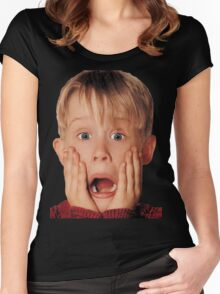 Macauly Culkin From Home Alone Women's Fitted Scoop T-Shirt