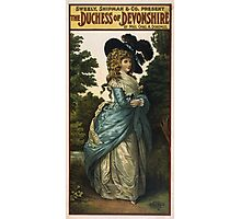 Vintage poster - Duchess of Devonshire Photographic Print
