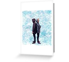 Dan & Phil   Blue petals Greeting Card
