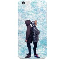 Dan & Phil | Blue petals iPhone Case/Skin