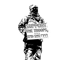 Support the Troops - End the War.  Soldier activist. by 321Outright