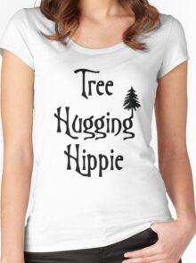 Tree hugging hippie Women's Fitted Scoop T-Shirt