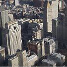 Aerial View, Lower Manhattan, City Hall. Municipal Building, One World Observatory, World Trade Center Observation Deck, Lower Manhattan, New York City by lenspiro