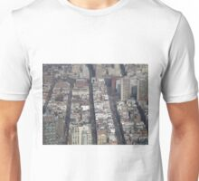 Aerial View, Greenwich Village, One World Observatory, World Trade Center Observation Deck, Lower Manhattan, New York City Unisex T-Shirt