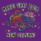 2016 Mardi Gras New Orleans NOLA 2016 by HolidayT-Shirts