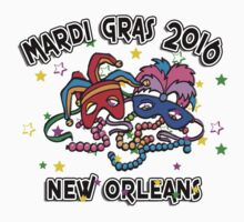 2016 Mardi Gras New Orleans NOLA 2016 One Piece - Short Sleeve
