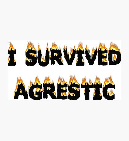 I survived Agrestic Photographic Print