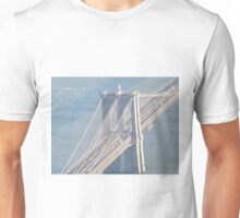 Aerial View, Brooklyn Bridge, One World Observatory, World Trade Center Observation Deck, Lower Manhattan, New York City Unisex T-Shirt