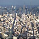 Aerial View, Midtown Manhattan, One World Observatory, World Trade Center Observation Deck, Lower Manhattan, New York City by lenspiro