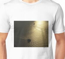 Aerial View, Boat and Hudson River, One World Observatory, World Trade Center Observation Deck, Lower Manhattan, New York City Unisex T-Shirt
