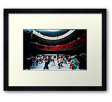 subway view Framed Print