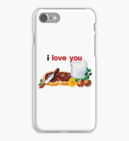 Nutella I Love You iPhone Case/Skin