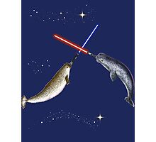 Jedi Narwhal  Photographic Print