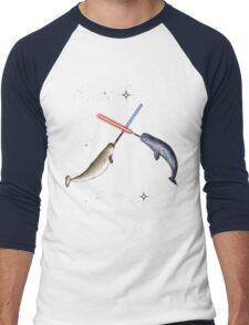Jedi Narwhal  Men's Baseball ¾ T-Shirt