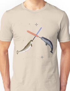 Jedi Narwhal  Unisex T-Shirt