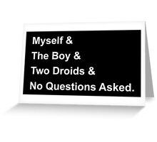 A New Hope - Helvetica Greeting Card